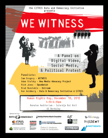 We Witness: A Panel on Digital Video, Social Media, and Political Protest's image