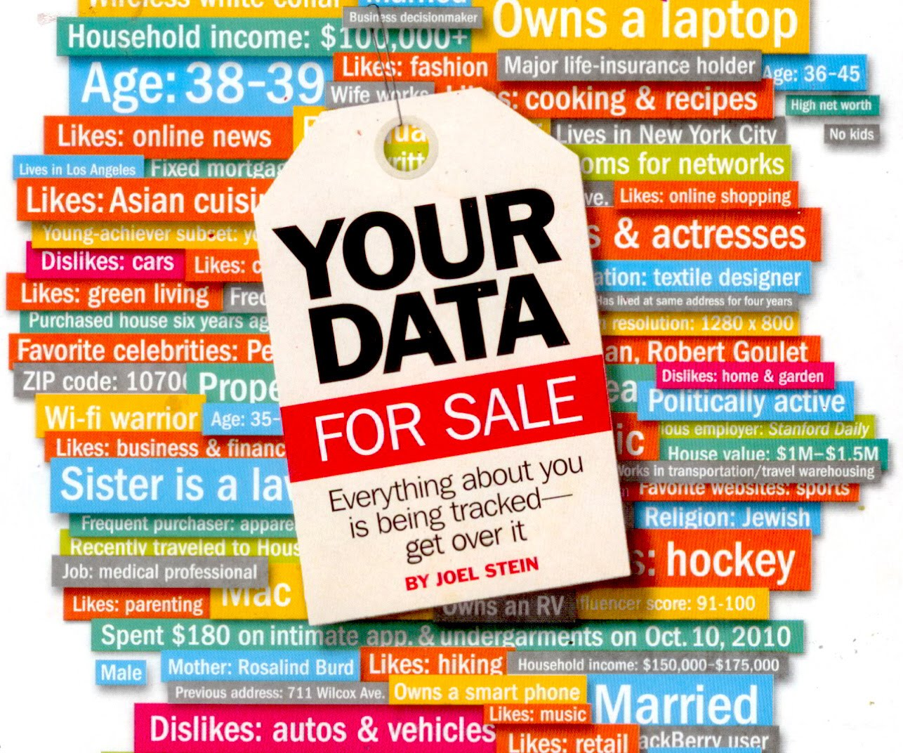Personal Data Time Magazine Cover